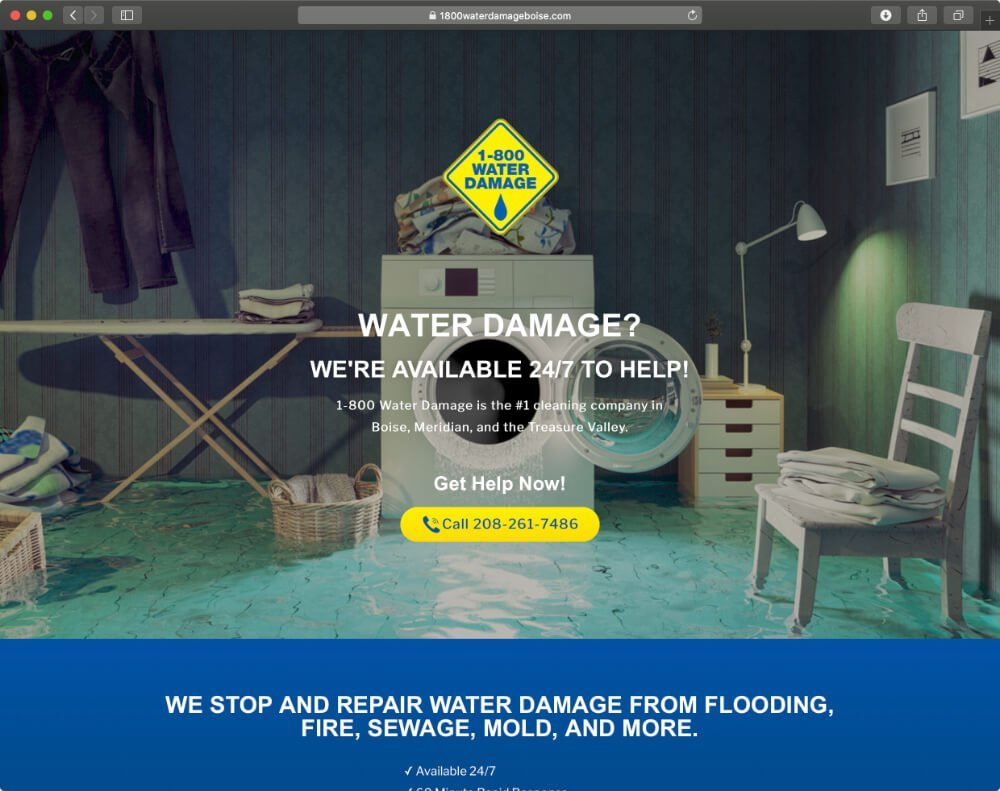 boise-graphic-design-landing-page-1-800-water-damage-1