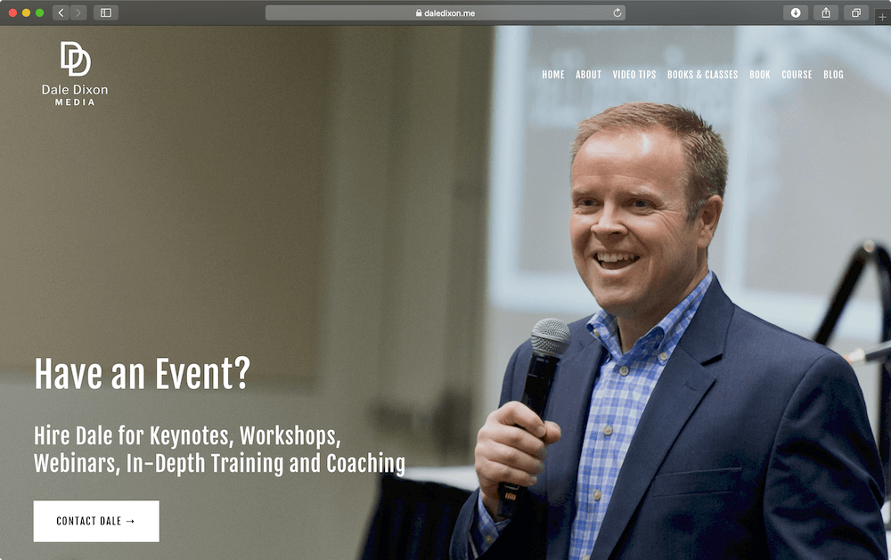 Dale Dixon Media – Bronze Web Design Package