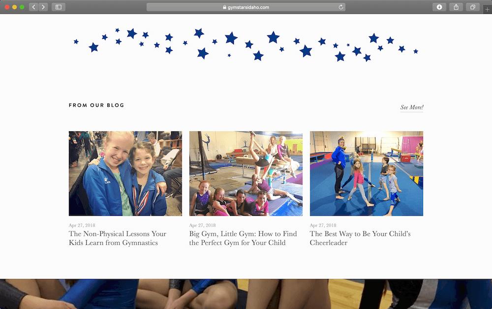 Gym Stars – Bronze Web Design Package