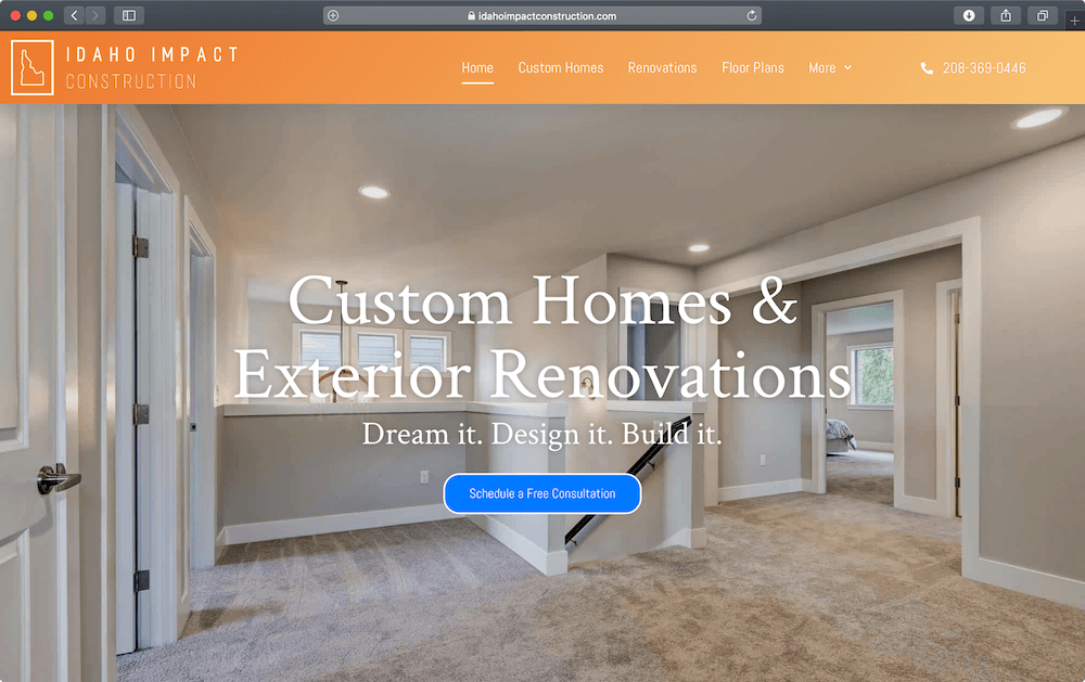 Idaho Impact Construction – Silver Web Design Package