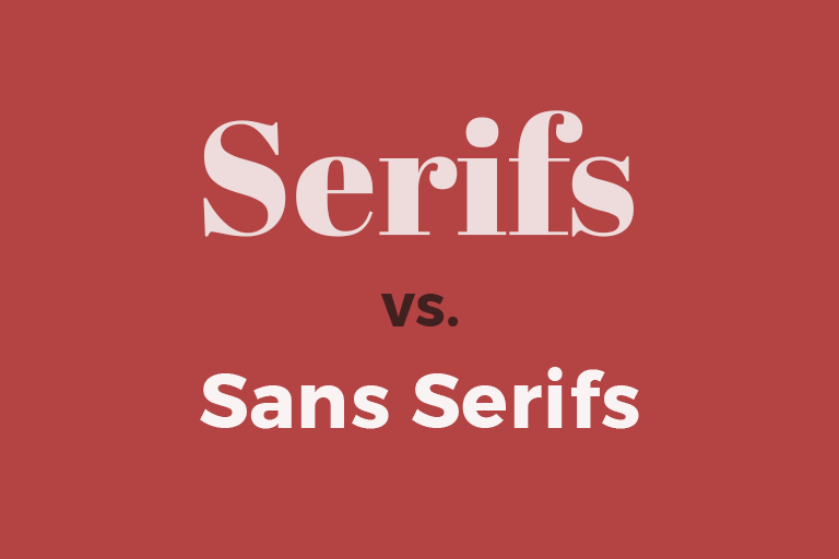 Serif fonts feature decorative details while sans serif fonts don't. Sans serif fonts give a clean, modern look suitable for most webinars.