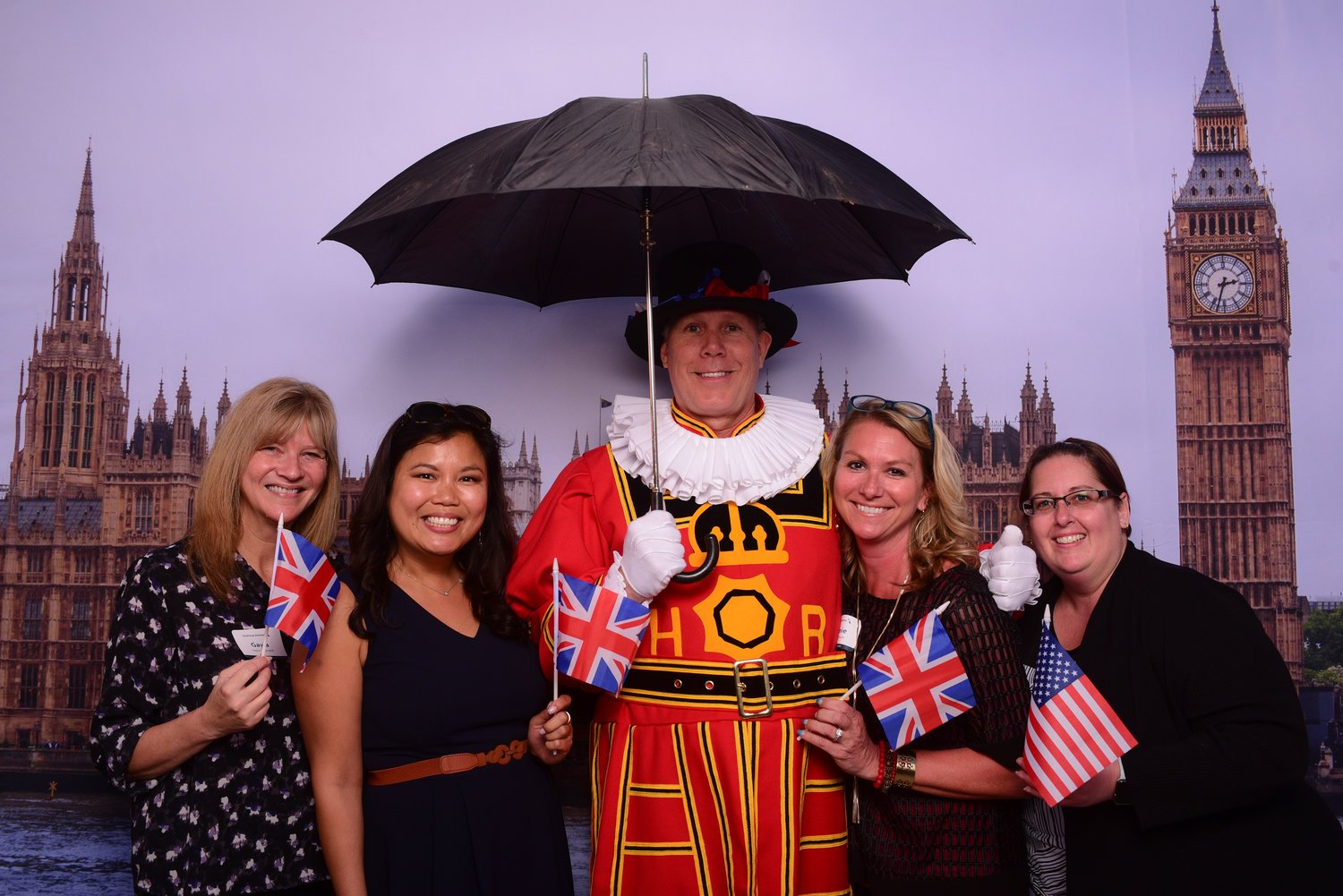 American Airlines celebrates launching a new nonstop flight to London.